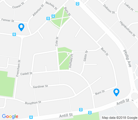 map of Downer apartments for rent