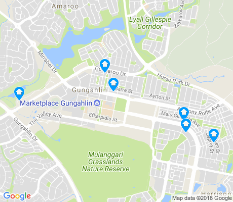 map of Gungahlin apartments for rent
