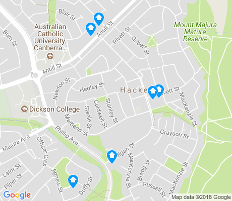 map of Hackett apartments for rent