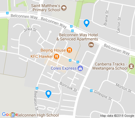 map of Hawker apartments for rent