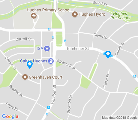 map of Hughes apartments for rent