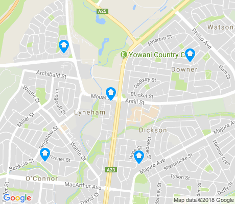 map of Lyneham apartments for rent