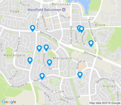 map of Macquarie apartments for rent
