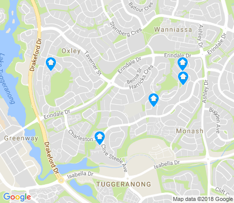 map of Monash apartments for rent