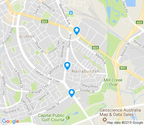 map of Narrabundah apartments for rent