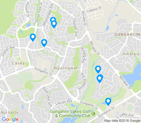 map of Ngunnawal apartments for rent