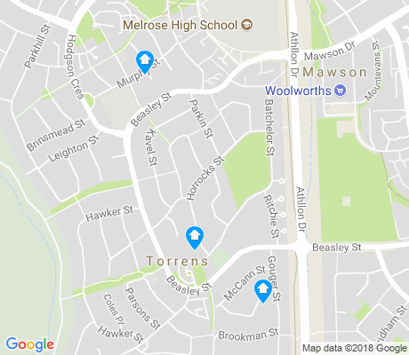 map of Torrens apartments for rent