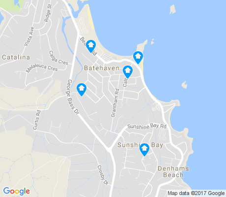 map of Batehaven apartments for rent