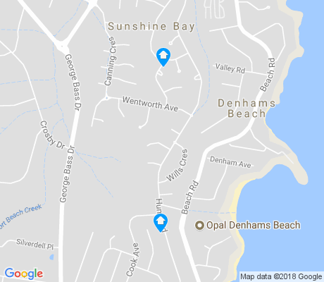 map of Denhams Beach apartments for rent