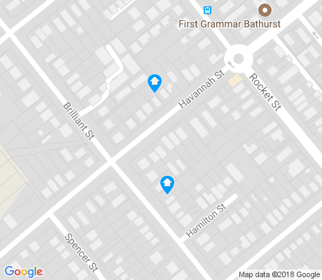 map of South Bathurst apartments for rent