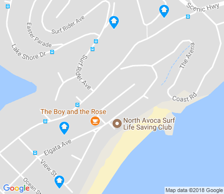 map of Avoca Beach apartments for rent
