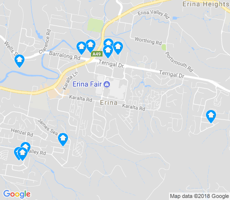 map of Erina apartments for rent