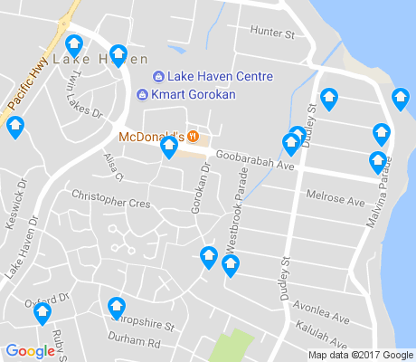 map of Lake Haven apartments for rent