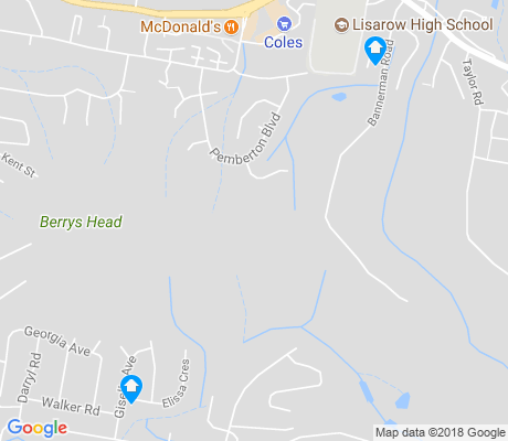 map of Lisarow apartments for rent