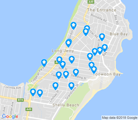 map of Long Jetty apartments for rent
