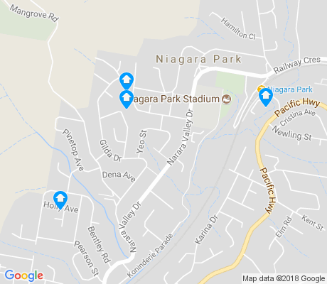 map of Niagara Park apartments for rent