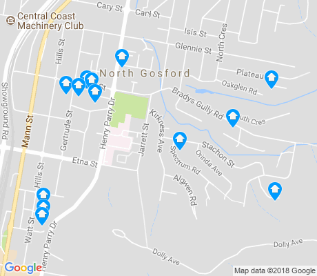 map of North Gosford apartments for rent