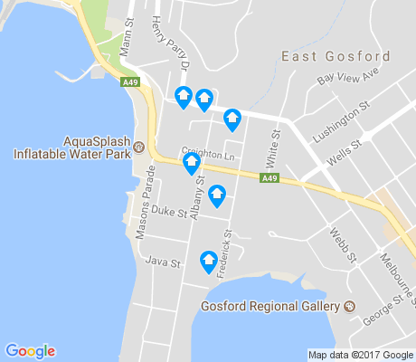 map of Point Frederick apartments for rent