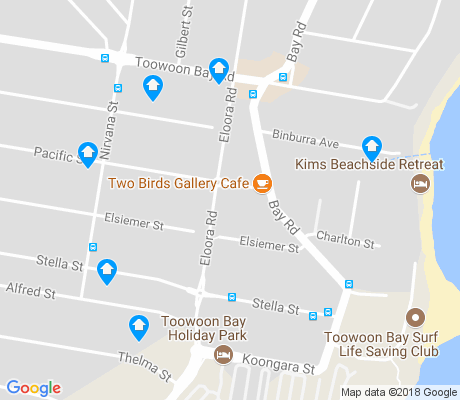 map of Toowoon Bay apartments for rent