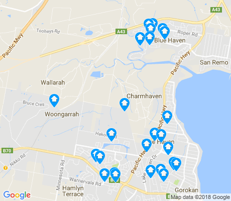 map of Woongarrah apartments for rent
