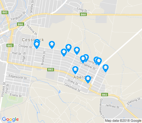 map of Aberdare apartments for rent
