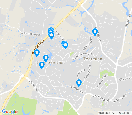 map of Boambee East apartments for rent