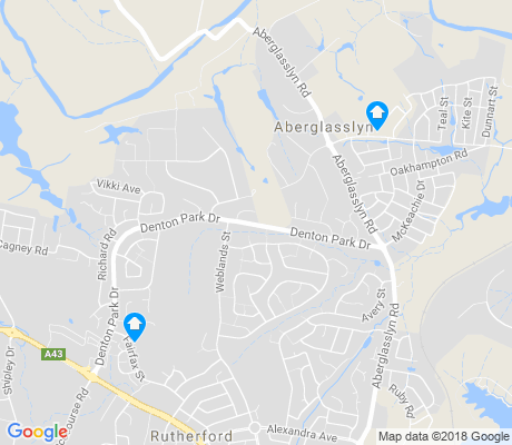 map of Aberglasslyn apartments for rent