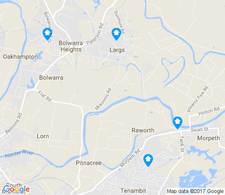 map of Bolwarra apartments for rent