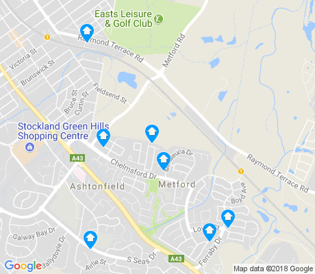 map of Metford apartments for rent