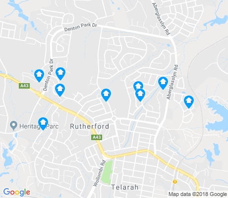 map of Rutherford apartments for rent