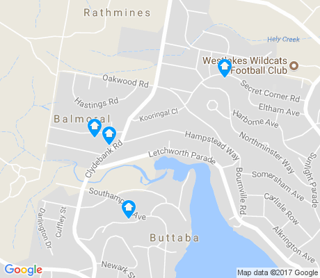 map of Balmoral apartments for rent