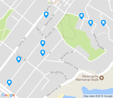 map of Bar Beach apartments for rent