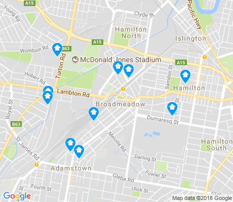 map of Broadmeadow apartments for rent