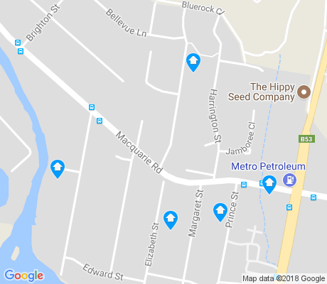 map of Fennell Bay apartments for rent