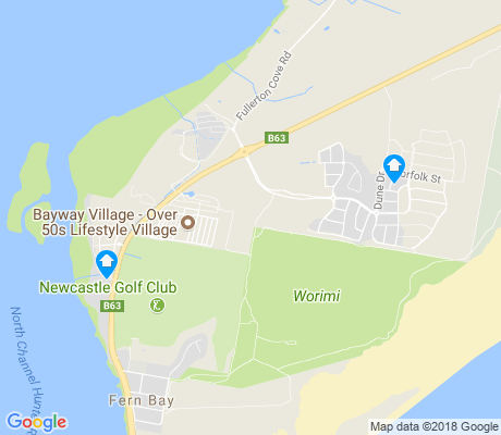 map of Fern Bay apartments for rent