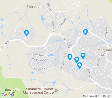 map of Fletcher apartments for rent