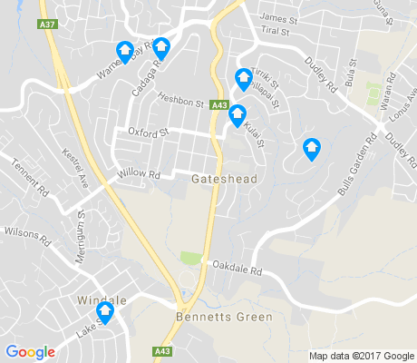 map of Gateshead apartments for rent