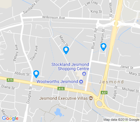 map of Jesmond apartments for rent