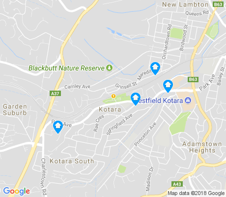map of Kotara apartments for rent