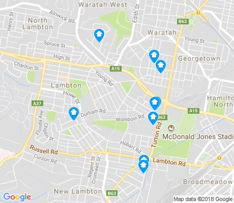 map of Lambton apartments for rent