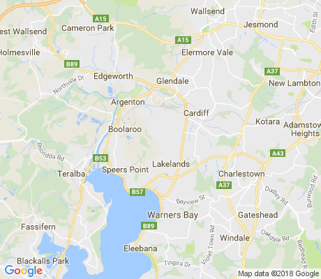 map of Macquarie Hills apartments for rent