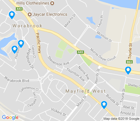 map of Mayfield West apartments for rent