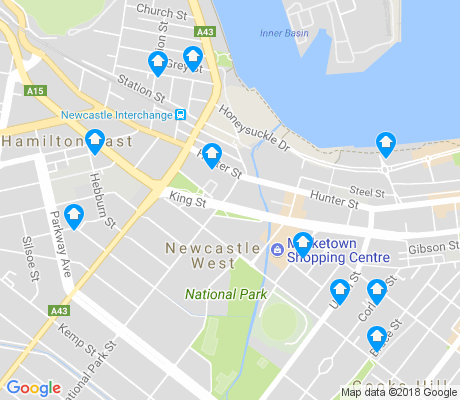 map of Newcastle West apartments for rent