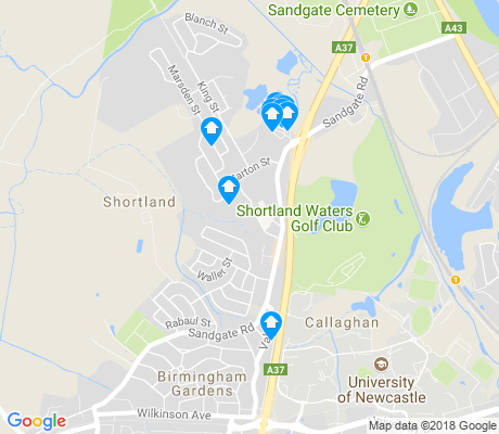 map of Shortland apartments for rent