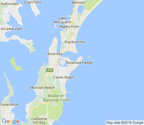map of Swansea Heads apartments for rent