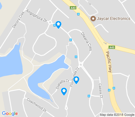 map of Warabrook apartments for rent