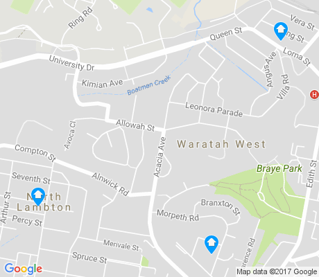 map of Waratah West apartments for rent