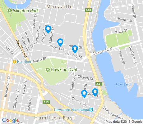 map of Wickham apartments for rent