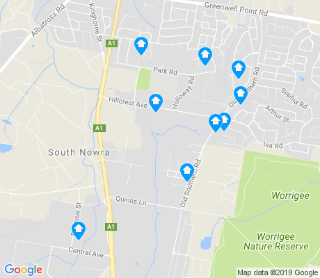 map of South Nowra apartments for rent