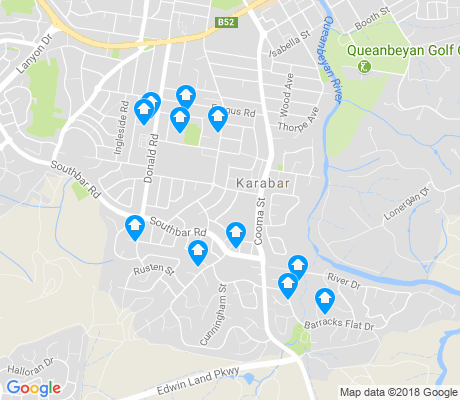map of Karabar apartments for rent